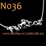 Dây chữ Pisces bạc Italy DN036 silver