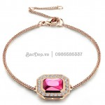 Lắc Tay Pink Ruby Jewelry silver